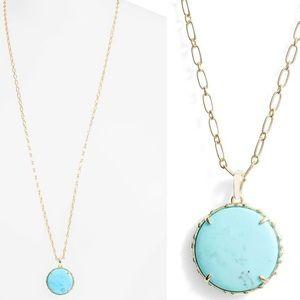 Kendra Scott Natalie Necklace Light Blue Magnesite